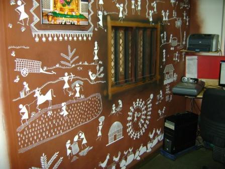 Warli painting on wall