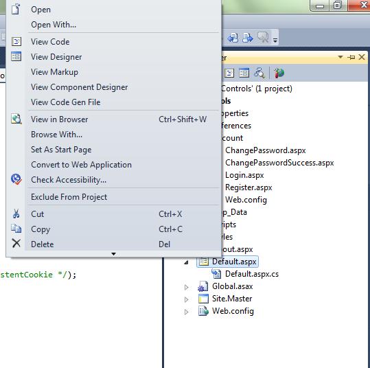 regenerate designer file - convert page to web application